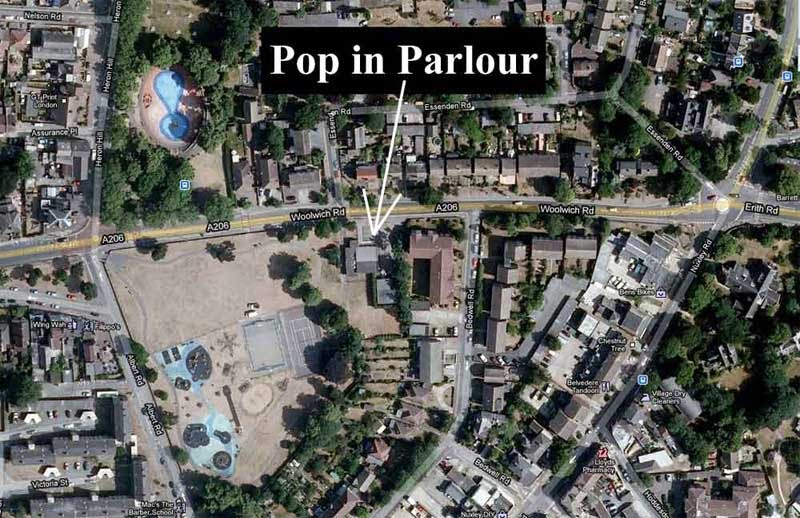 POP IN PARLOUR MAP